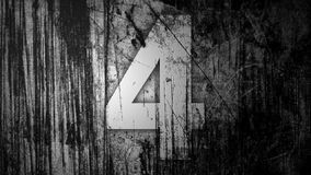 Beautiful Light Passing Through Number Four (4) Stock Images