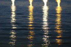 Beautiful light reflect on the water. Light on the water. Texture Stock Photography