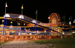 The beautiful light trails in a carnival Stock Images