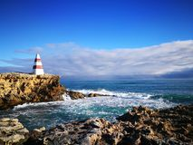 Beautiful lighthouse on the clif. A beautiful scenery in Robe, South Australia Royalty Free Stock Image