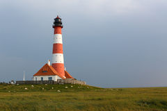 Beautiful lighthouse in Germany, North Sea Stock Images