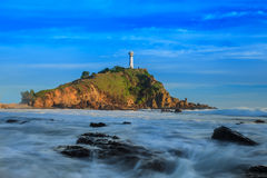 Beautiful Lighthouse on Hill Royalty Free Stock Photos