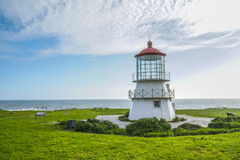 The beautiful lighthouse of Shelter Cove - SHELTER COVE - CALIFORNIA - APRIL 17, 2017 Stock Photography