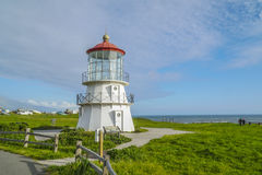 The beautiful lighthouse of Shelter Cove - SHELTER COVE - CALIFORNIA - APRIL 17, 2017 Royalty Free Stock Images