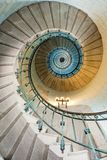 Beautiful lighthouse staircase stock photography