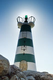 Beautiful lighthouse on sunny day outdoors background. Sunshine sky outside Royalty Free Stock Image