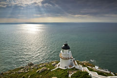 The beautiful Lighthouse in Taiwan stock images