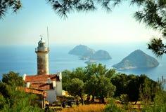 Beautiful lighthouse in Turkey . Stock Photo