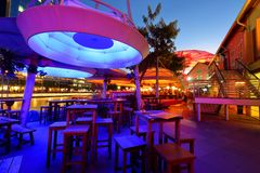 Beautiful lighting at Clarke Quay Stock Image