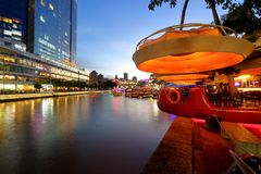 Beautiful lighting at Clarke Quay Royalty Free Stock Photos