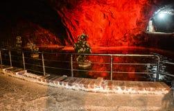 Beautiful lighting inside Khewra mine Royalty Free Stock Photo