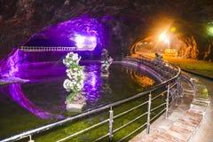 Beautiful lighting inside Khewra mine Royalty Free Stock Photography