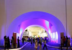 Beautiful lighting of restored Bab Al Bahrain arch Royalty Free Stock Image
