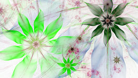 Beautiful lightly colored modern flower background in blue,green,pink colors Royalty Free Stock Images