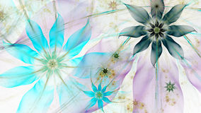 Beautiful lightly colored modern flower background in cyan,blue,pink,yellow colors Stock Photo