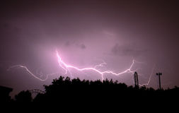Beautiful lightning Royalty Free Stock Photography