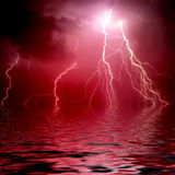 Beautiful Lightning Stock Image