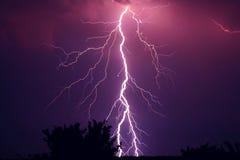 Beautiful lightning. Huge lightning in the night Royalty Free Stock Image
