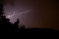 Beautiful lightning in the forest Royalty Free Stock Photos