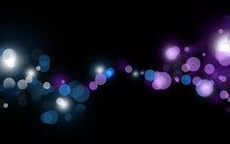 Beautiful lights. Beautiful defocus lights on black background Royalty Free Stock Photography