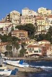 The beautiful Ligurian town of Porto Maurizio,Imperia, Italy. The beautiful Ligurian town of Porto Maurizio,Imperia during summer Stock Images