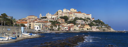 The beautiful Ligurian town of Porto Maurizio,Imperia, Italy. The beautiful Ligurian town of Porto Maurizio,Imperia during summer Royalty Free Stock Photo
