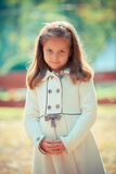 Beautiful liitle girl close-up. Portrait of a beautiful liitle girl close-up Stock Images