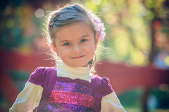 Beautiful liitle girl close-up. Portrait of a beautiful liitle girl close-up Stock Photos