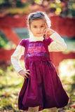 Beautiful liitle girl close-up. Portrait of a beautiful liitle girl close-up Royalty Free Stock Images