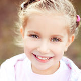 Beautiful liitle girl close-up Royalty Free Stock Images