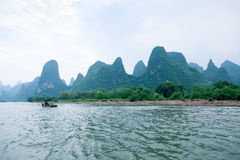 Beautiful lijiang river in Guilin Royalty Free Stock Photography