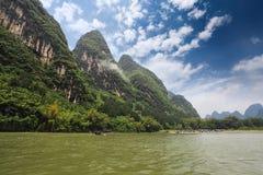 Beautiful lijiang river scenery in guilin Stock Photography