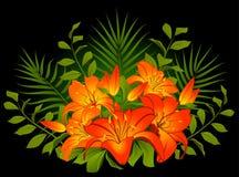 Beautiful Lily Bouquet Stock Photo