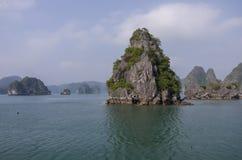 Beautiful limestone mountain scenery panorama of Ha Long Bay, No Royalty Free Stock Image