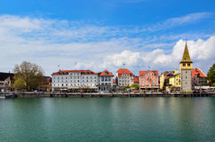Beautiful Lindau town near Bodensee lake Royalty Free Stock Images