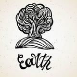 Beautiful line art filigree zodiac of element. Black sign on vintage background.Elegant jewelry tattoo.Engraved horoscope symbol. royalty free illustration