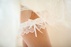 Beautiful linen of the bride stock photography