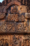 Beautiful Lintel Decoration in Banteay Srei Stock Images