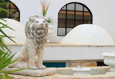 Beautiful lion sculpture Stock Photography