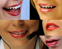 Beautiful lips collage Stock Image