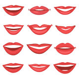 Beautiful lips collection Stock Photography