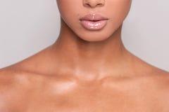 Beautiful lips. Stock Photography