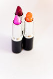 Beautiful lipsticks, cosmetics and make-up Royalty Free Stock Image