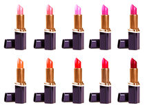 Beautiful lipsticks isolated on white background Royalty Free Stock Photos