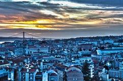 Beautiful Lisbon. A sunset shot from Lisbon Royalty Free Stock Photo