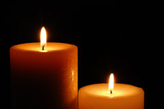 Beautiful Lit Candles Royalty Free Stock Images