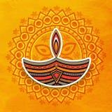 Beautiful lit lamp for Happy Diwali celebration. Stock Image