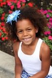 Beautiful little african-american girl smiling Royalty Free Stock Photo