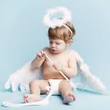 Beautiful little angel Stock Photo