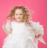 Beautiful little angel girl Royalty Free Stock Photos